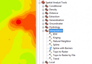 Interpolation Spatial Analyst Tools