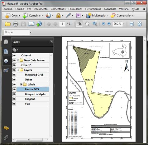MXD de ArcMap exportar a PDF