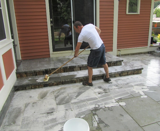 how to clean a patio without a hose