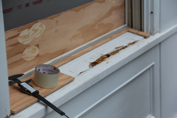How to replace a rotted interior window sill for Replacing interior window sill