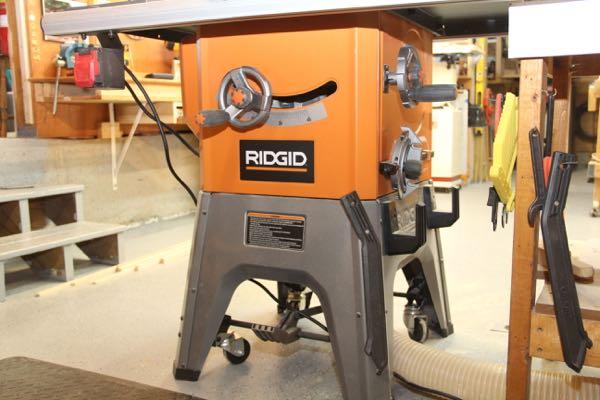 Ridgid R4512 Riving Knife Adjustment