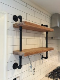 Gas Pipe Wall Shelf - A Concord Carpenter