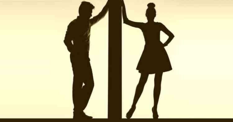 Couple between walls