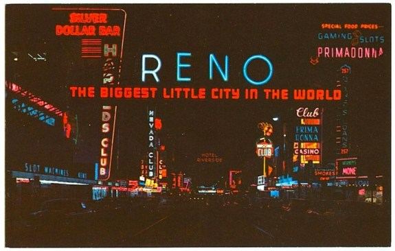 1960s RENO NEVADA vintage postcard