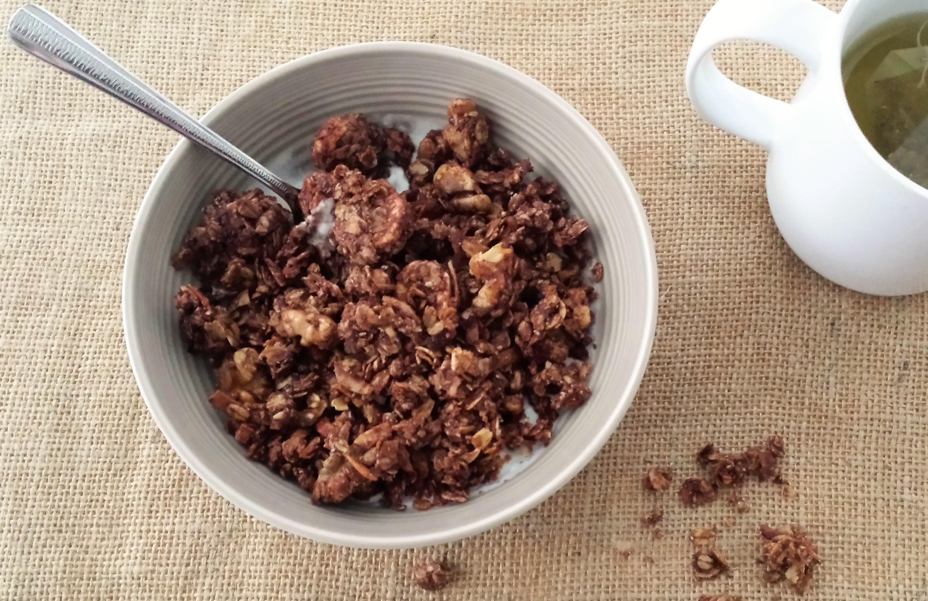 Chocolate Coconut Banana Granola 1