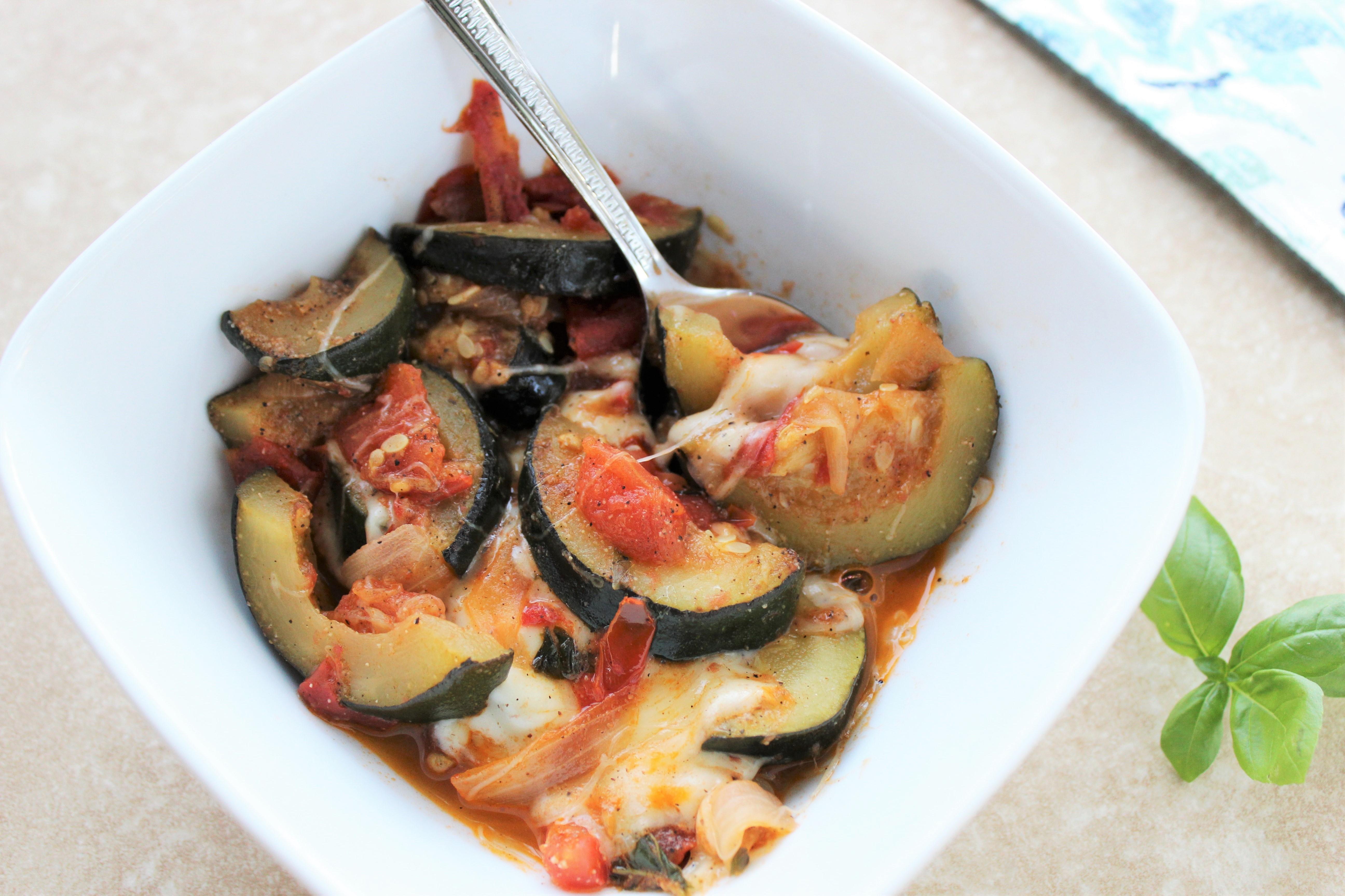 Tomato, Zucchini, and Mozzarella Bake 3
