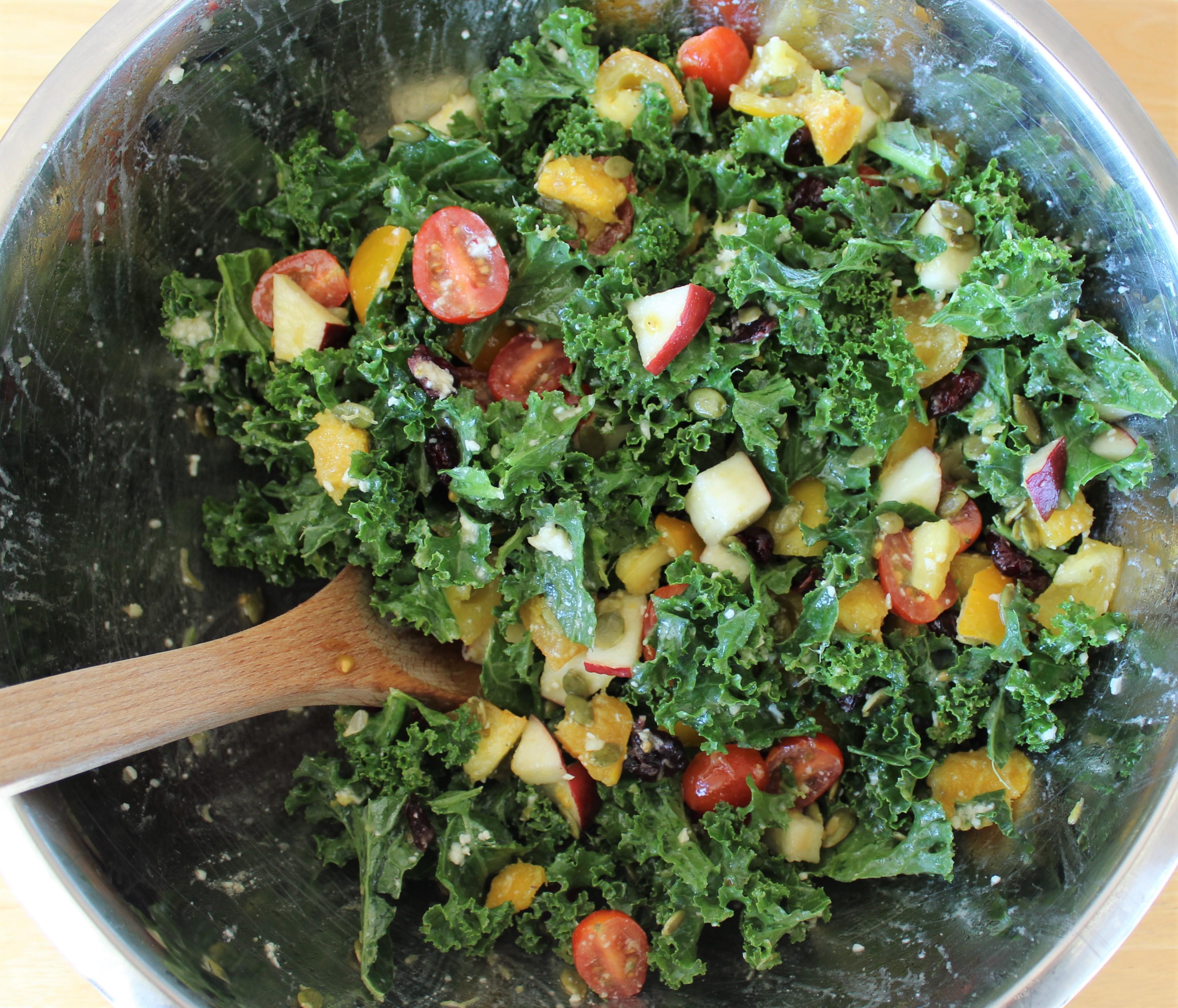Autumn Salad with Creamy Parmesan Dressing 2
