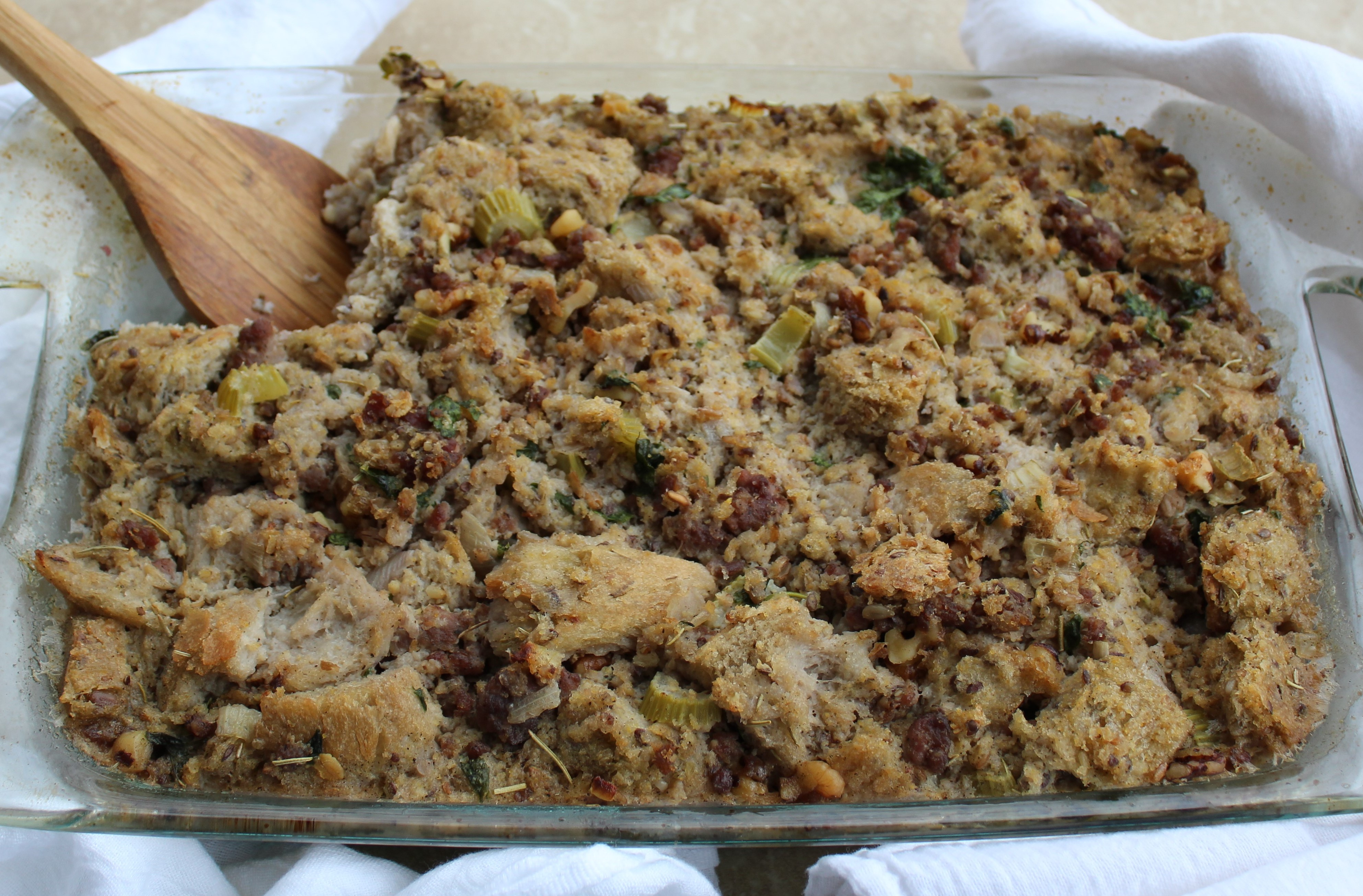 Sausage and Walnut-Studded Stuffing 2