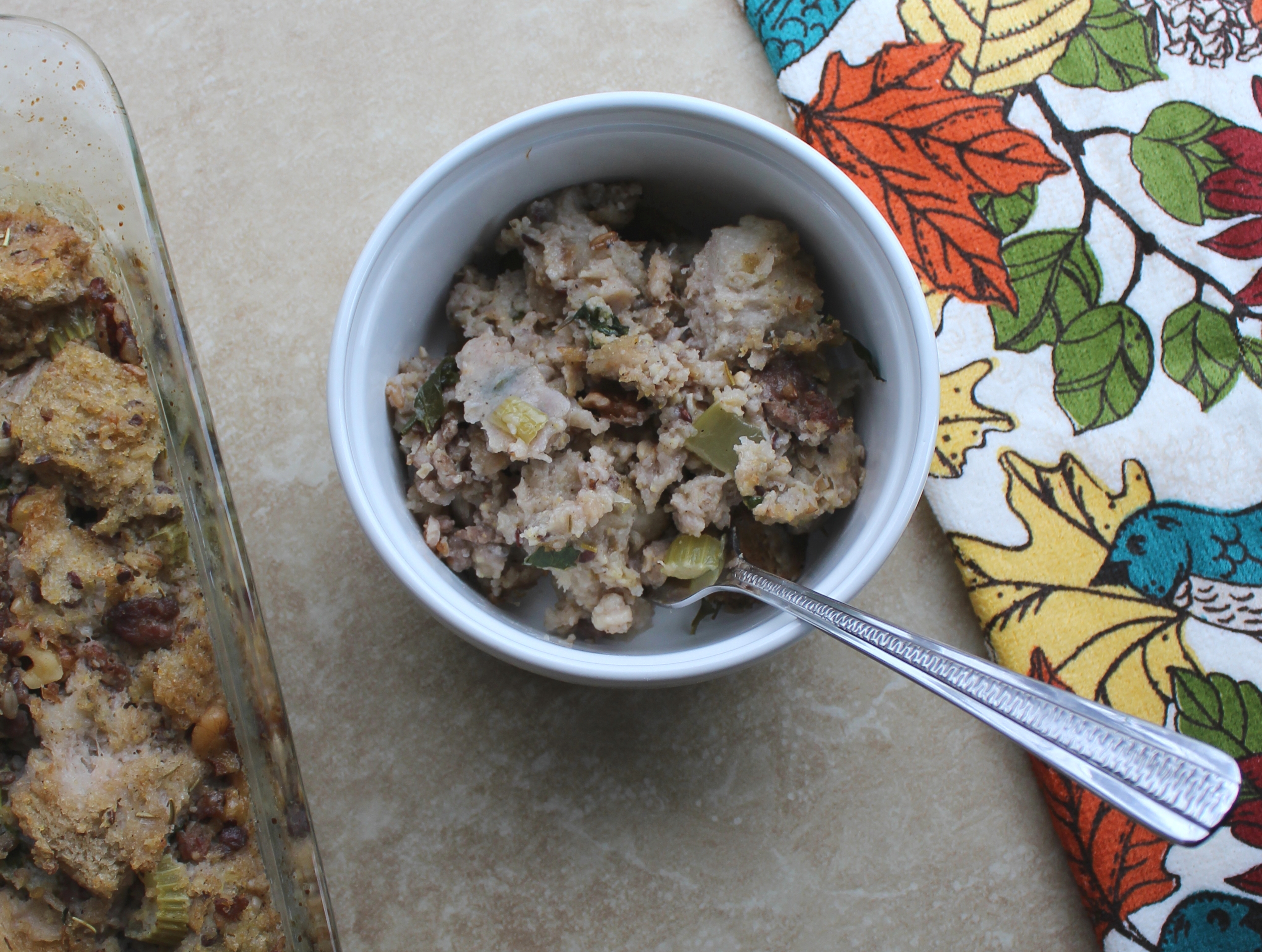 Sausage and Walnut-Studded Stuffing 3