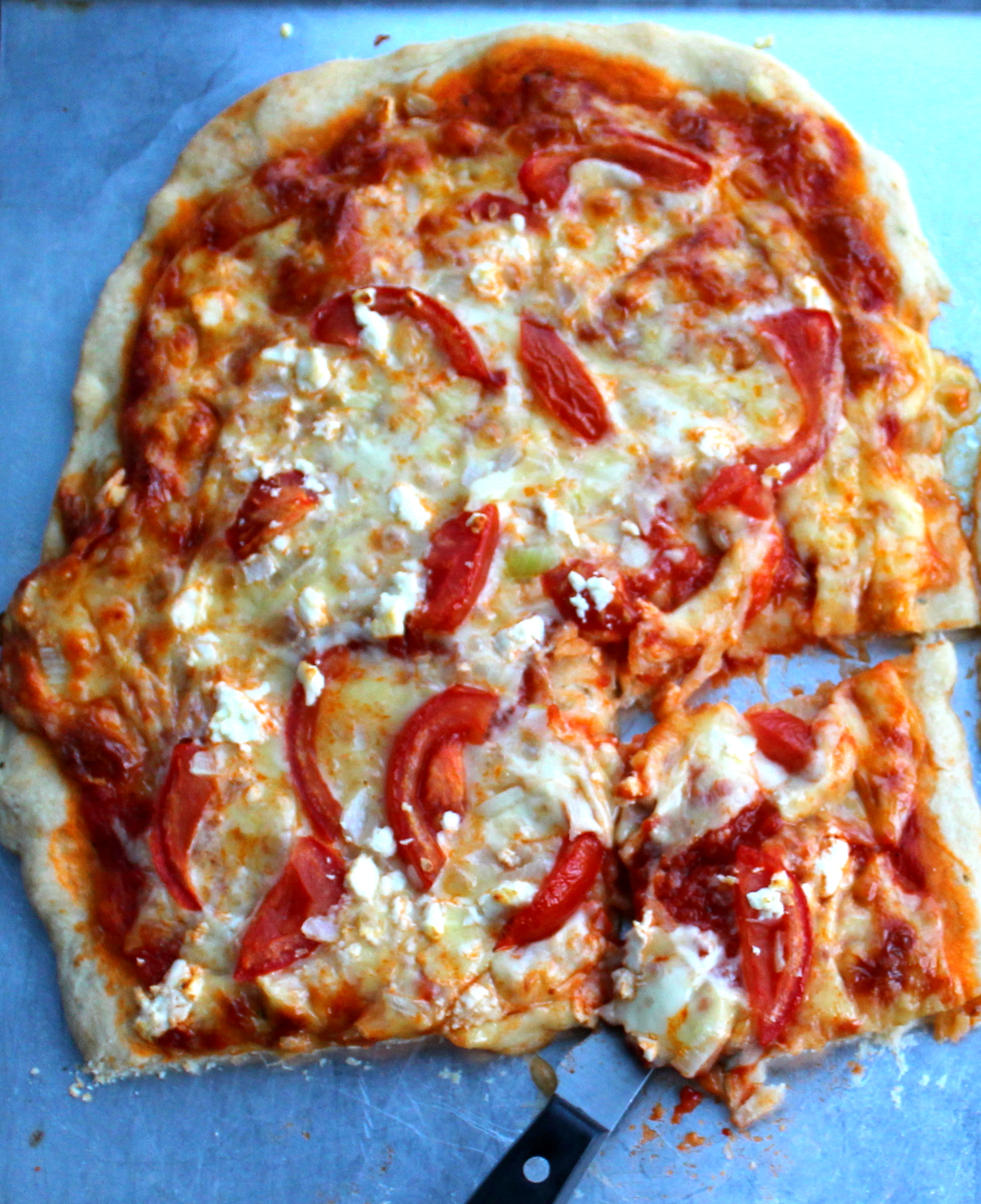 Tomato, Onion, and Feta Pizza 1