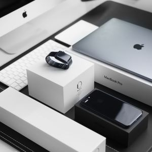 A selection of luxury products and packaging from Apple