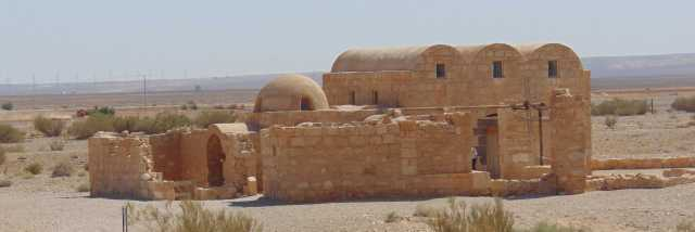 "The Umayyad desert complex of Qusayra 'Amra, one of Jordan's famous ""desert castles"" (qusur), dated to the eighth century CE. Photo by Tareq Ramdan"