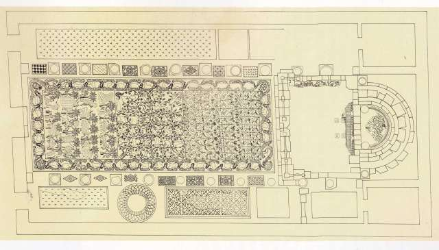 Madaba, Church of al-Khadir; plan by U. Lux and C. Florimont, from The Mosaics of Jordan (1992).