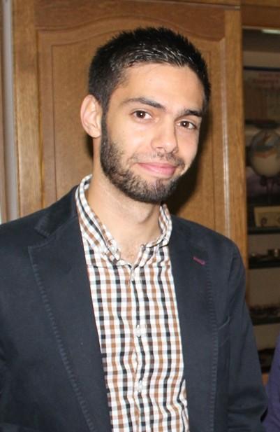 Ali Hamdan at ACOR in October, 2015. Photo by Firas Bqa'in.