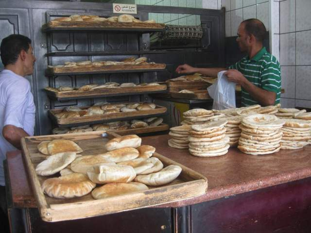 Much of José Ciro Martínez's fellowship time at ACOR was spent in Amman bakeries, such as this one near Sports City, where he was able to gather valuable information about the role of bread and bakeries in the daily rhythms of the city's residents.