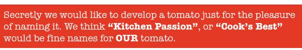 Tomato Names