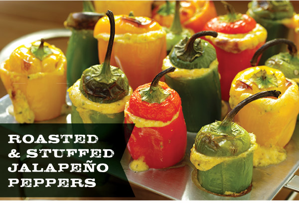 Roasted & Stuffed Jalapeno Peppers