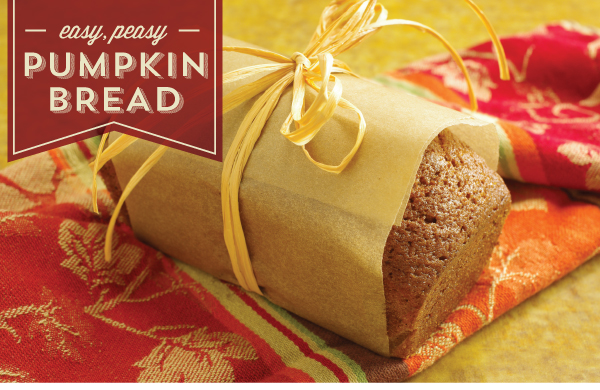 Easy, Peasy Pumpkin Bread