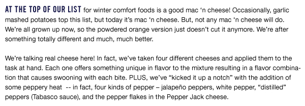 Spicy Mac N Cheese