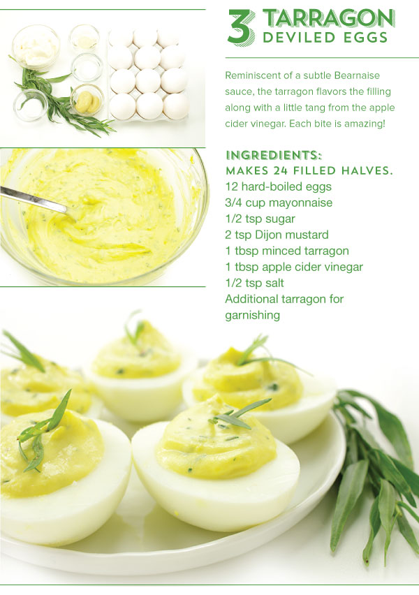 Tarragon Deviled Eggs