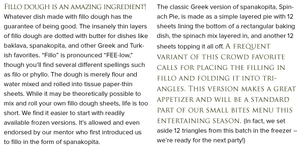 RECIPE: Spanakopita Triangles