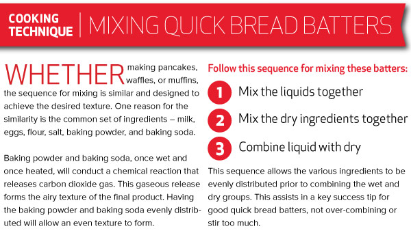 Cooking Technique: Mixing Quick Bread Batters