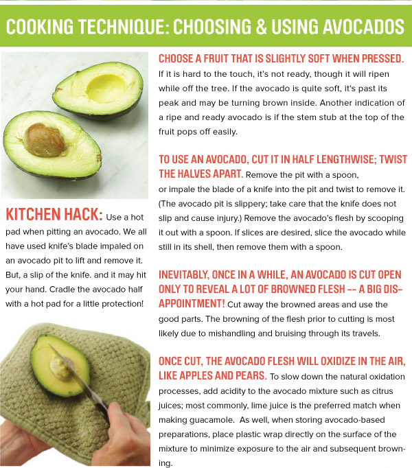 Cooking Technique: Choosing and Using Avocados