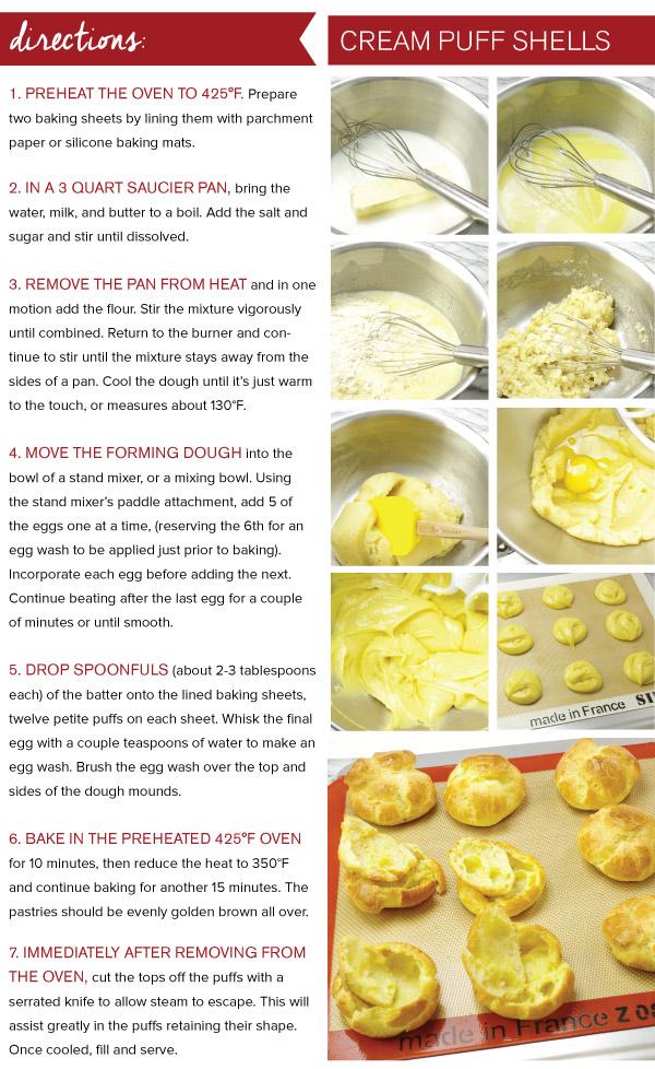 Directions: Cream Puff Shells