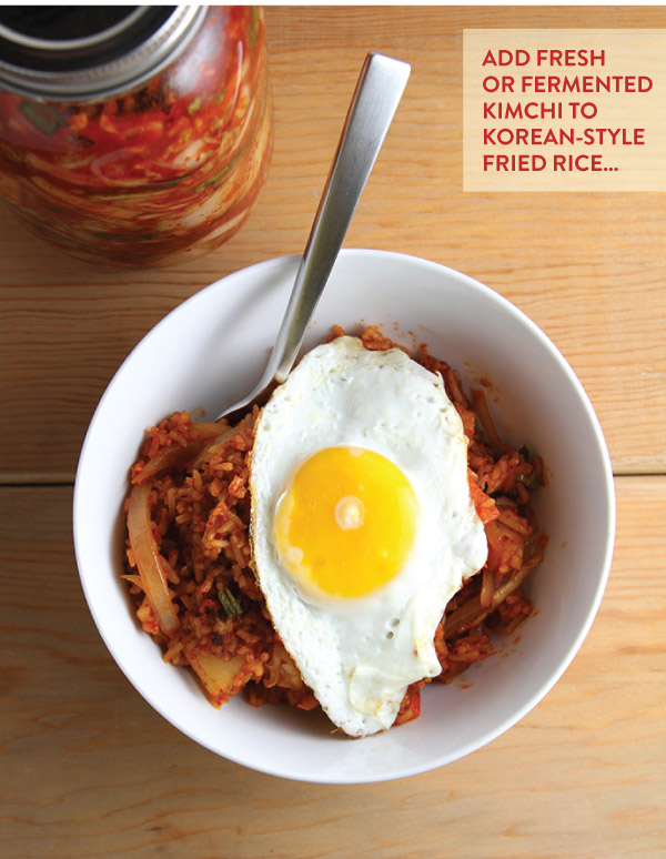 Add Fresh or Fermented Kimchi to Fried Rice