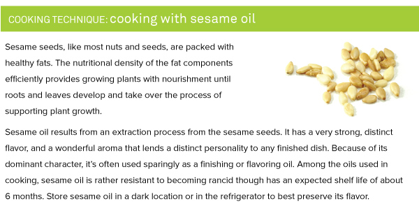 Cooking Technique: Cooking with Sesame Oil