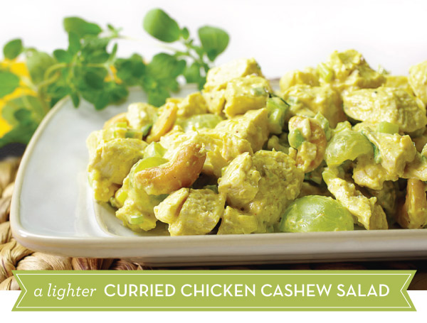 A Lighter Curried Chicken Cashew Salad