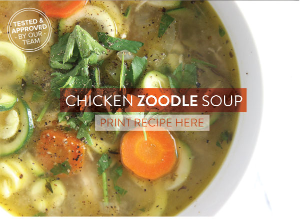 RECIPE: Chicken Zoodle Soup
