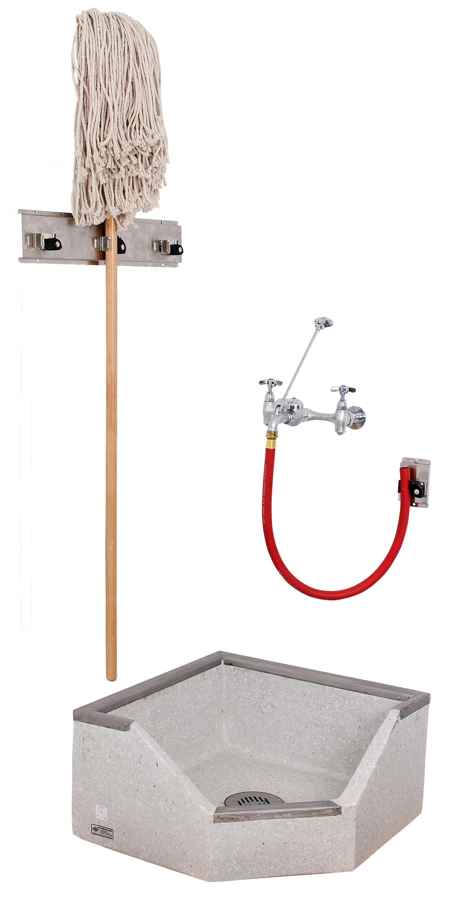 24 x 24 x 12 Height NeoCorner Corner Terrazzo Mop Sink