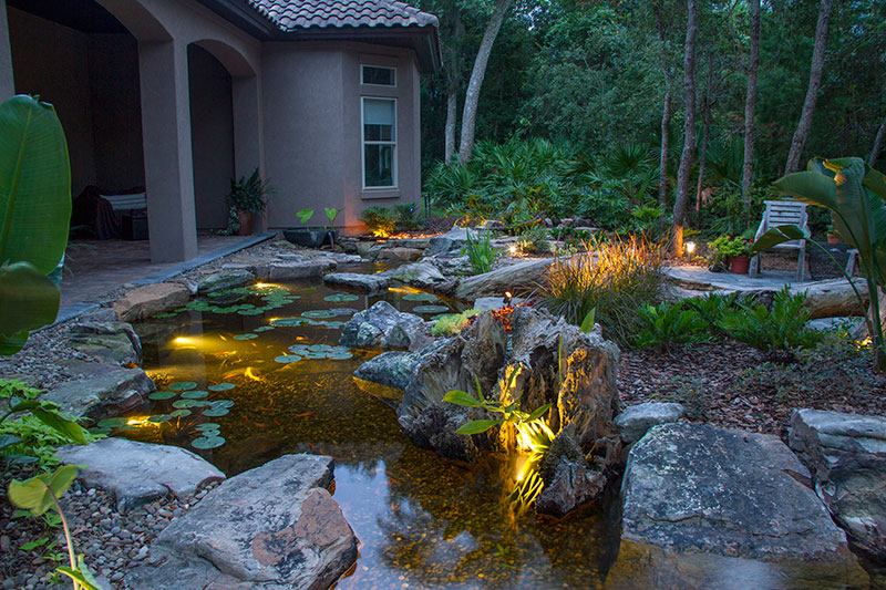 LED Underwater Pond & Water Feature Lighting Services Rochester
