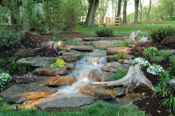 pondless waterfalls landscape ideas outdoor