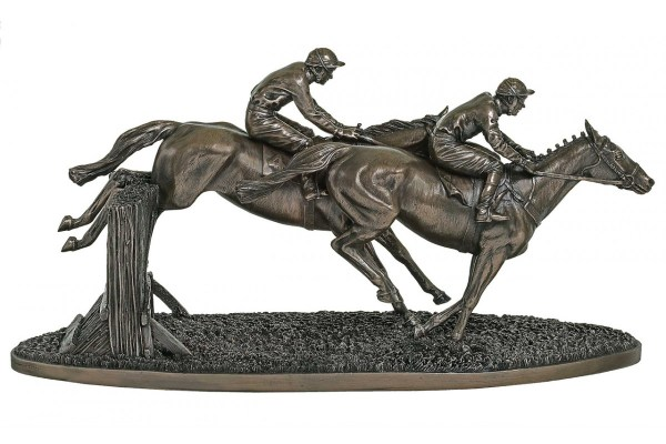 Bronze Racehorse Statues