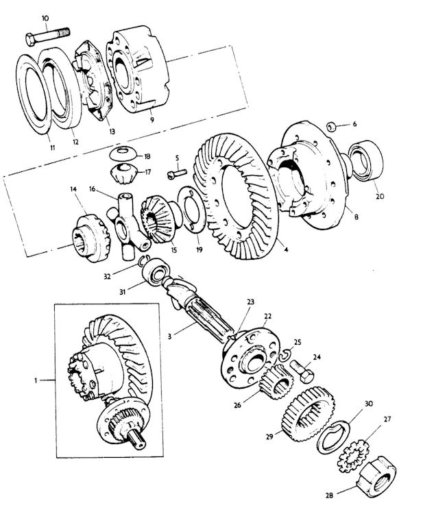 8n ford tractor rear axle diagram