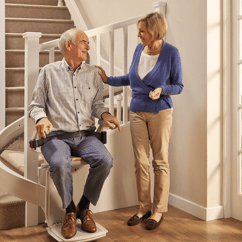 Stair Lift Chair Plastic Lounge Chairs Stairlifts Free Quote Fast Installation Acorn Stairlift Hinged Rail Option