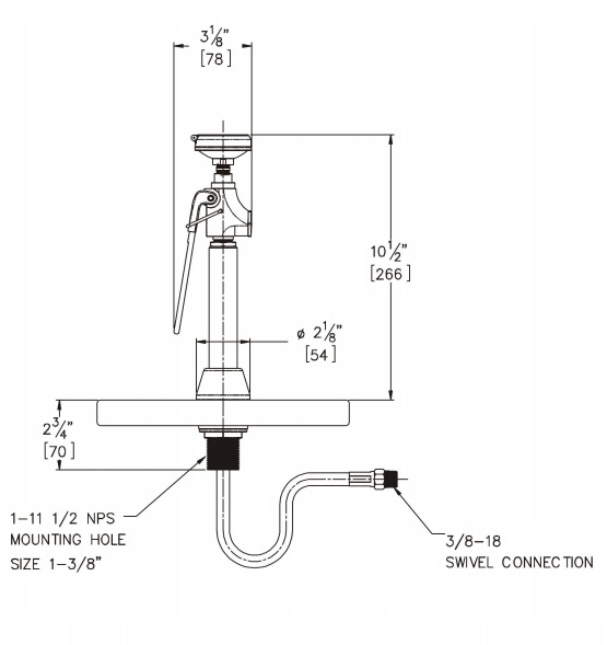 Deck Mounted Stay Open Emergency Drench Hose