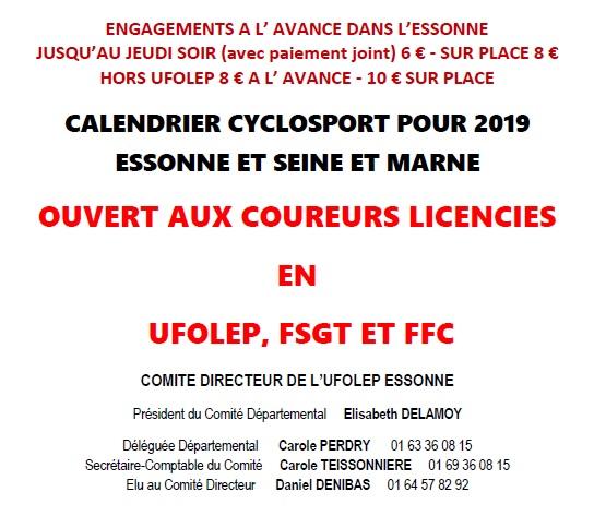 Calendrier Ufolep 2019 Cyclisme.Route Calendrier Ufolep 77 91 Avenir Cycliste D Orsay