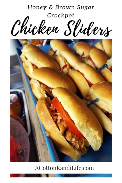 Crock Pot Chicken Sliders: Honey & Brown Sugar. Super Bowl Recipes, Easy Crock Pot Chicken Sliders, Tailgate Food, July 4th Recipes