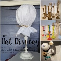 DIY Hat Display Stand {Repurpose Project}