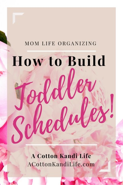 How to Build Toddler Schedules