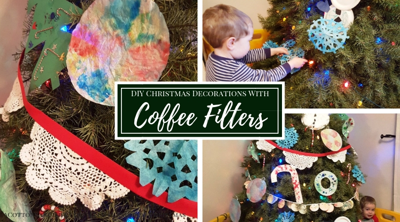 DIY Christmas Decorations with Coffee Filters | Toddler Crafting