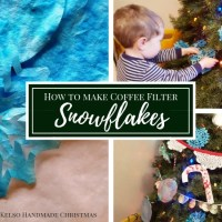 How to Make Coffee Filter Snowflakes | DIY Christmas