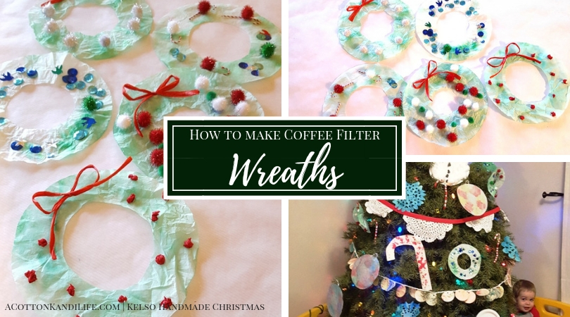 How to Make Coffee Filter Wreaths | DIY Christmas