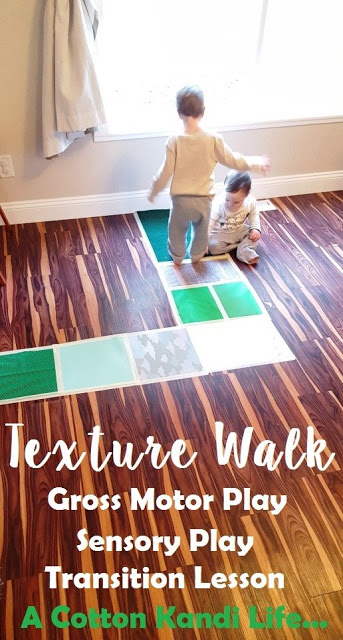 Sensory Play & Gross Motor Fun {Texture Walk}