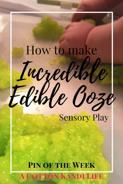 How to Make Incredible Edible Ooze. Sensory Play Recipes DIY Slime Recipes