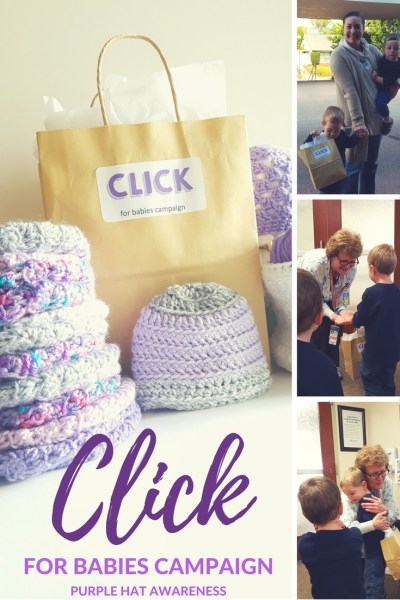 Why I do the CLICK for Babies Campaign. Purple Hat Awareness to prevent Shaken Baby Syndrome
