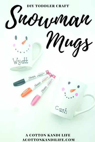 DIY Snowman Mugs. Easy Holiday Craft. Kids Cocoa Cup Project. Sharpie Mugs